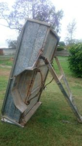 Metal trailer before painting with Hammerite Direct to Rust